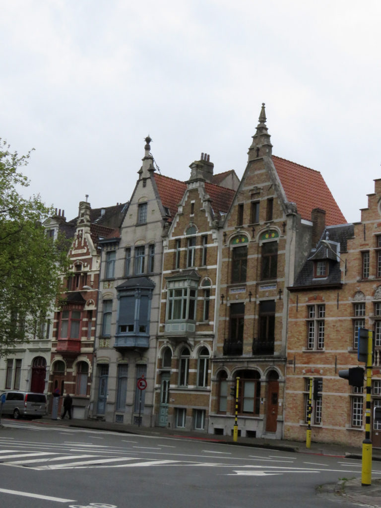 Pretty houses in Bruges.