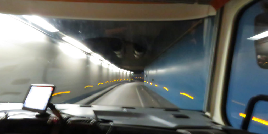 Tunnel height limit 3.2 metres, van height 3.2 metres, great!