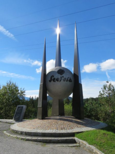 We were surprised to see this huge monument in a lay-by in Seefeld.  I wish I knew what it signified.