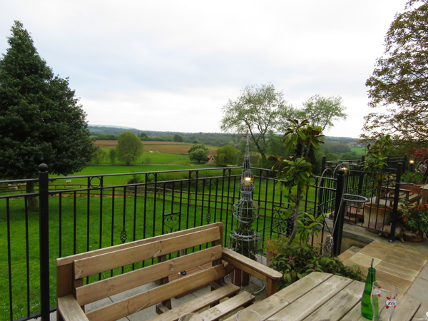 Beautiful countryside as far as the eye can see at the Dumb Post Inn, Bremhill near Calne