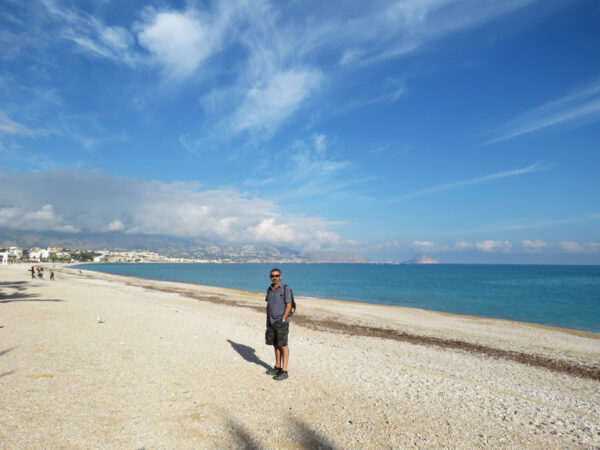 On the beach at L'Albir.