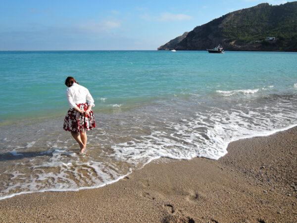 Paddling at L'Albir, Spain.