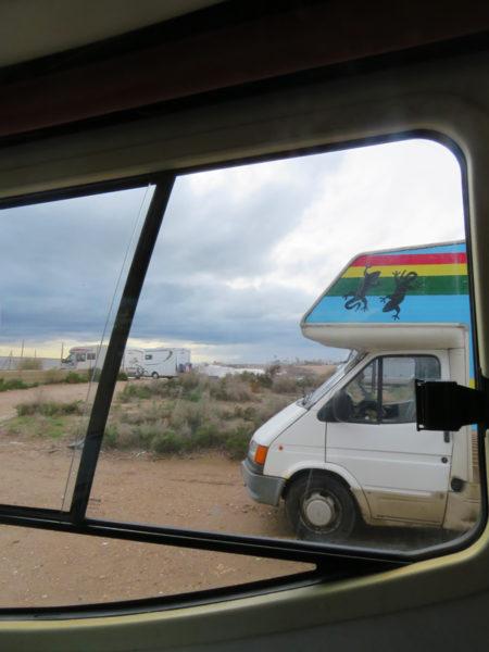 Lovely colourful van.