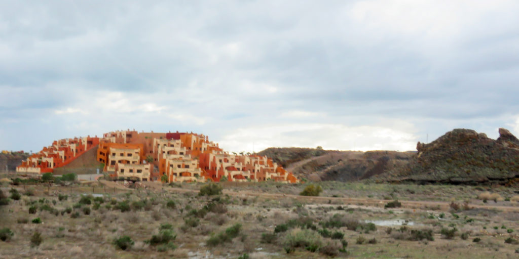 It was surprising to see these buildings, they were in the middle of nowhere.