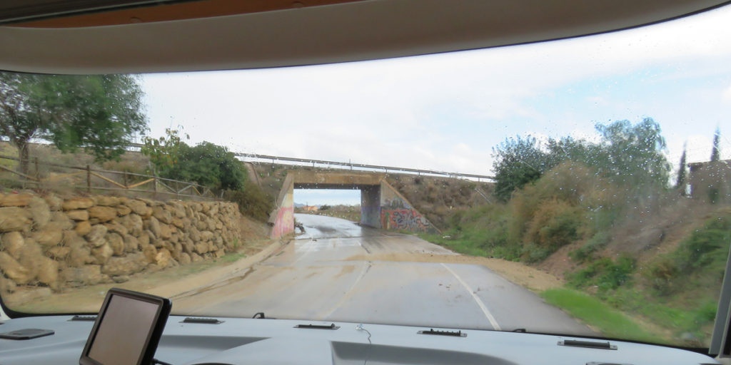 This is the road that our SAT NAV wanted us to turn on to whilst we were on that bridge!