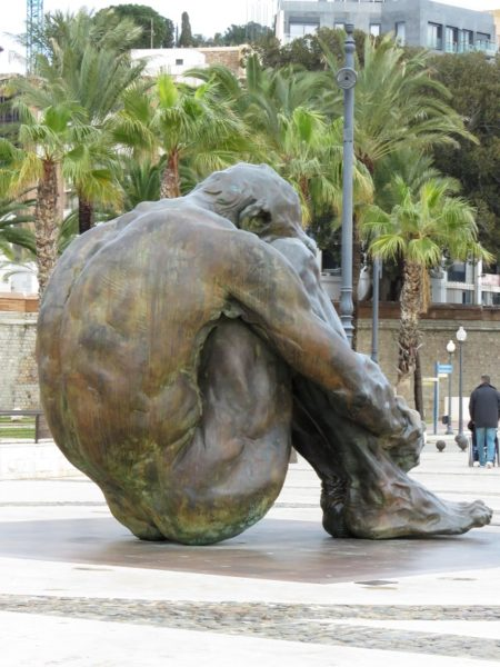 The Cache sculpture by Victor Ochoa for the victims of terrorism, Cartagena, Spain