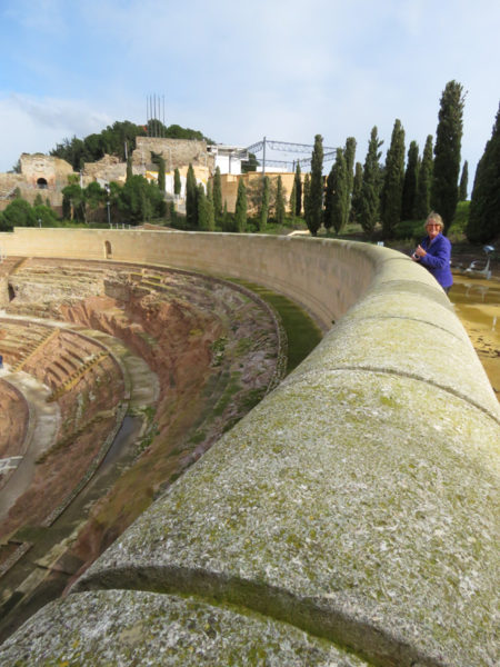 Looking down over the Roman theatre.