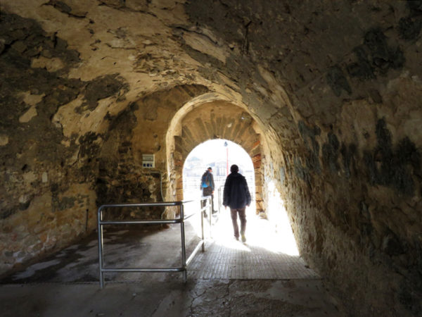 Leaving the Roman theatre, it's always exciting to walk through an old tunnel.