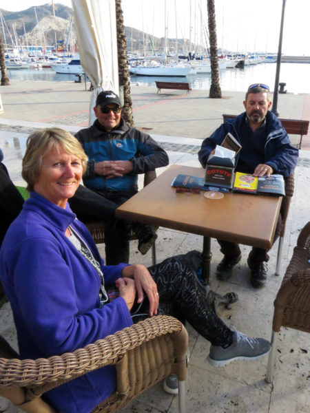 Short break at the harbour before we make our way back to our vans.