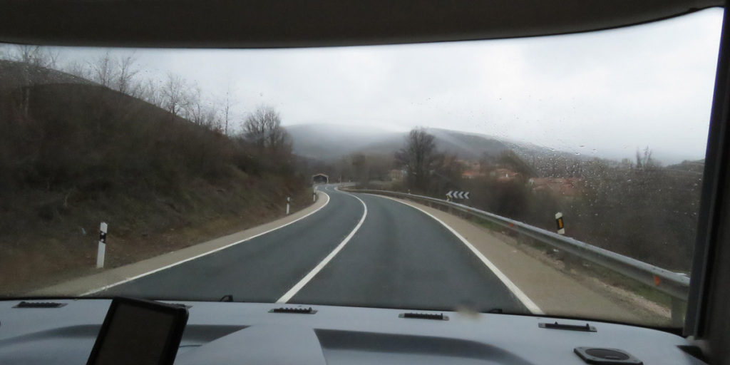 A tunnel cut into the rolling hills