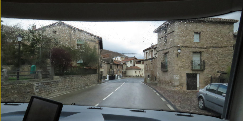 We travelled through mountain villages built of stone