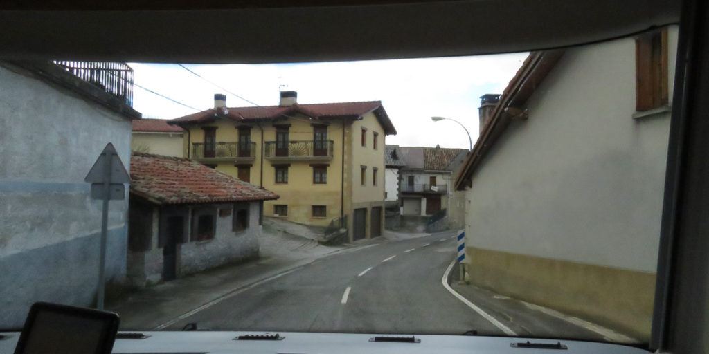 Lizarraga, Navarre, the village at the bottom of the mountain road.