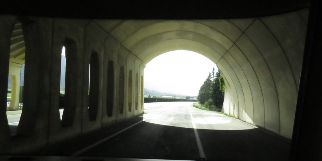 Another pretty, holey tunnel like my favourite tunnel in Norway..