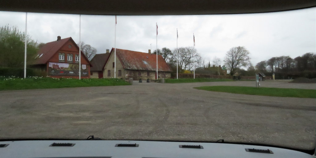 Leaving Egeskov Slot, disappointed that we were unable to look around the grounds.