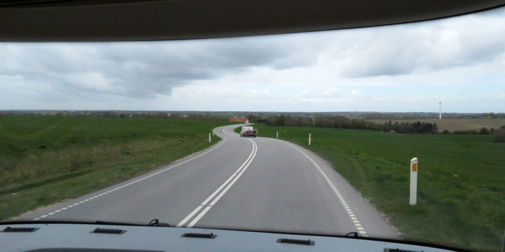 Onward to Trelleborg along the wonderfully quiet road.
