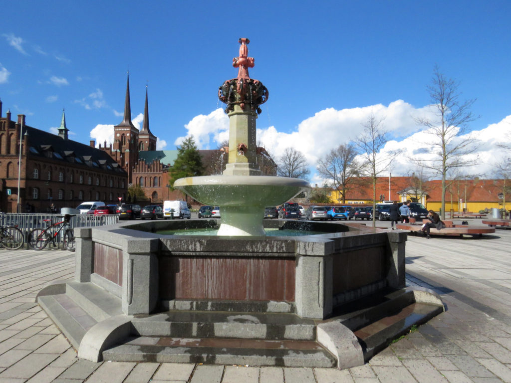 Fountain in town square