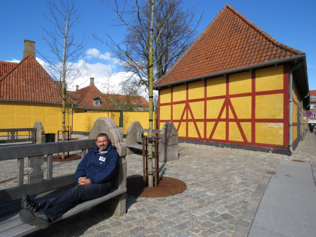 Take a moment to put your feet up!  Outside Roskilde Royal Mansion