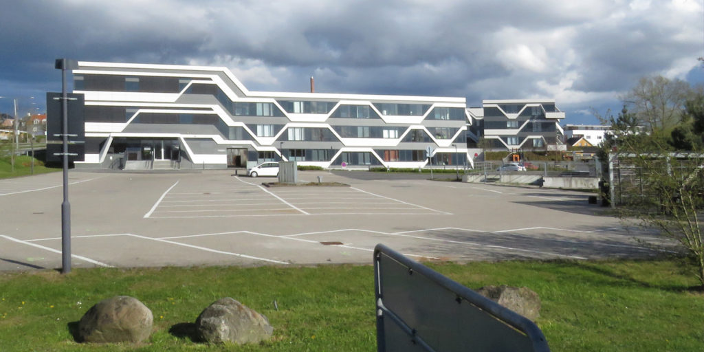 Snazzy modern architecture. on our journey to Frederiksborg Slot