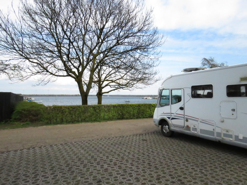 Our motorhome waiting for the off