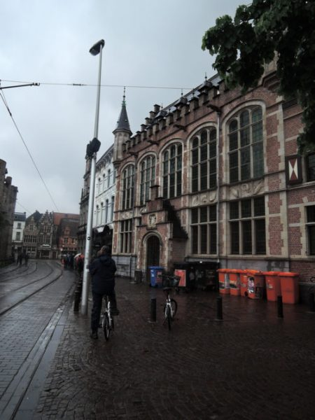 This miserable weather is NOT going to spoil our visit to Ghent!