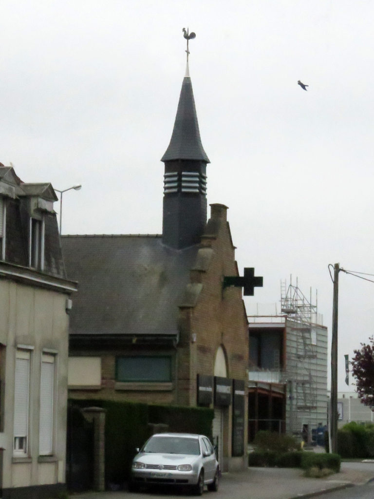 Unusual way to display a cross.