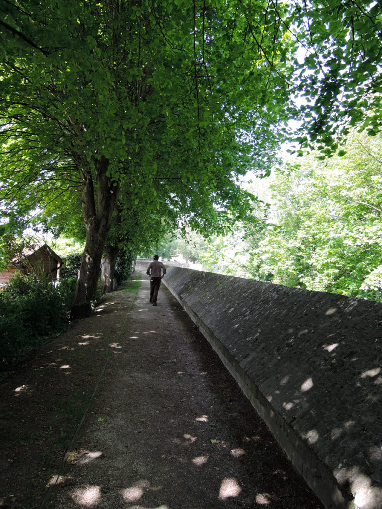 We walked along the ramparts in Bergues.
