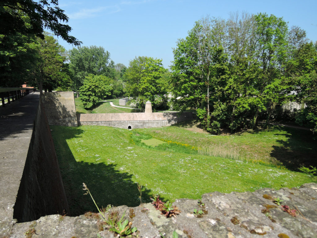 View over the ramparts.