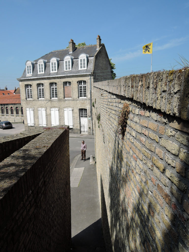 View from the ramparts. There seemed to be a surprise round every corner in Bergues.