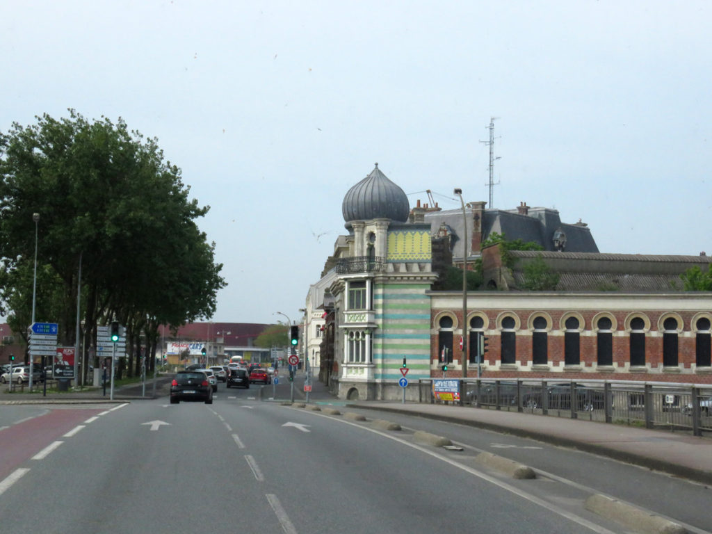 Driving into Dunkirk.
