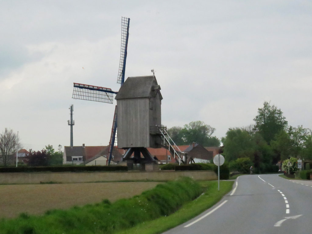 A windmill on a turntable.