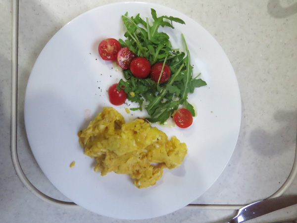 The yolks are so yellow, they made very tasty scrambled eggs.