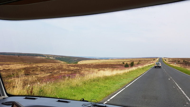 The beautiful moors.  The SAT NAV took us well out of our way but it was worth it for these views.