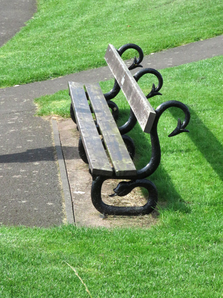 Such fancy benches