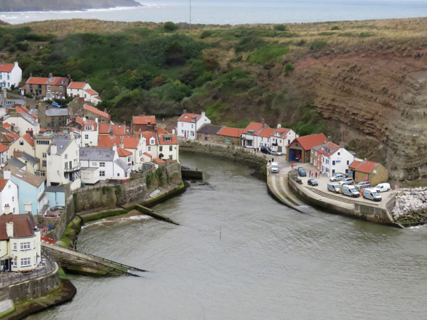 View into Staithes.