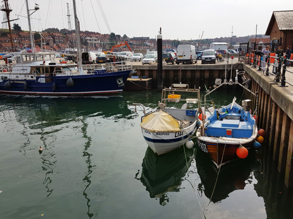 Boats in Whitby harbour.