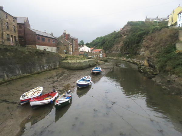 Tide's out in Staithes.