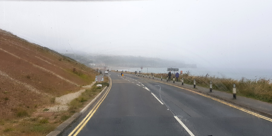 Travelling towards Sandsend after leaving Whitby for Hinderwell.