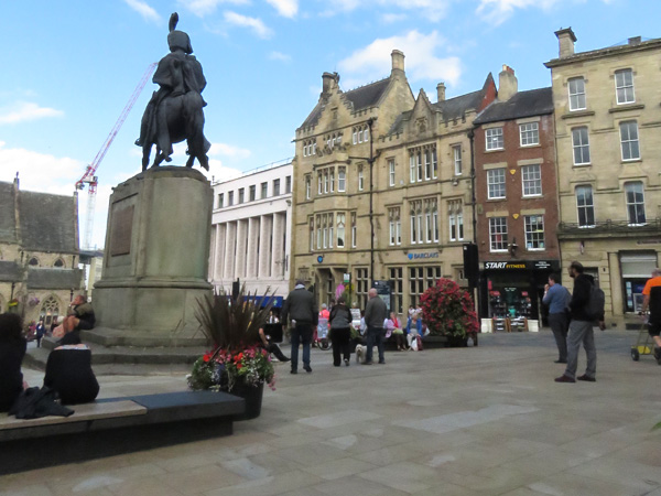 We sat in this square and listened to my cousin Michelle's radio programme on Radio Tafn.