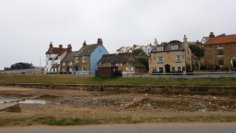 Looking across the estuary at Sandsend on our journey to Hinderwell
