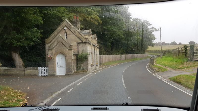 Pretty gatehouse along the route