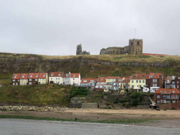View over to Whitby Abbey.